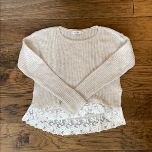 Cream and Lace Sweater